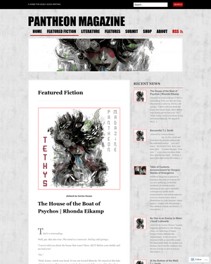 Recent cover image or website screenshot for Pantheon Magazine
