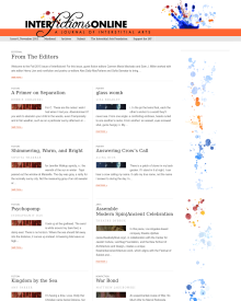 Recent cover image or website screenshot for Interfictions: A Journal of Interstitial Arts
