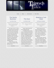 Recent cover image or website screenshot for Triptych Tales