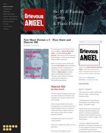 Recent cover image or website screenshot for The Grievous Angel