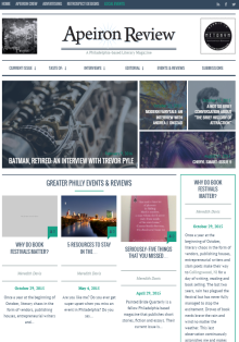 Recent cover image or website screenshot for Apeiron Review Weekly Featured Content