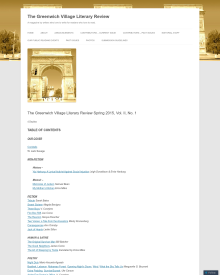Recent cover image or website screenshot for The Greenwich Village Literary Review