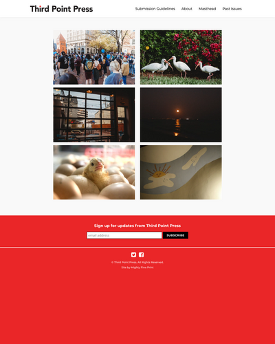 Recent cover image or website screenshot for Third Point Press