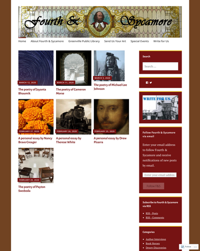 Recent cover image or website screenshot for Fourth & Sycamore
