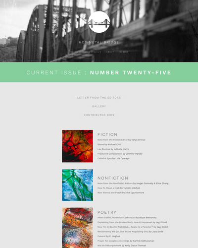 Recent cover image or website screenshot for Hot Metal Bridge