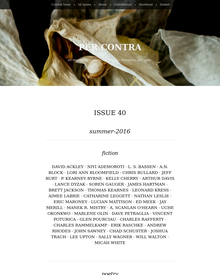 Recent cover image or website screenshot for Per Contra