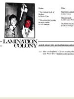 Recent cover image or website screenshot for Lamination Colony