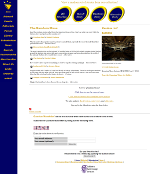 Recent cover image or website screenshot for Quantum Muse