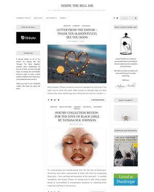 Recent cover image or website screenshot for Inside The Bell Jar