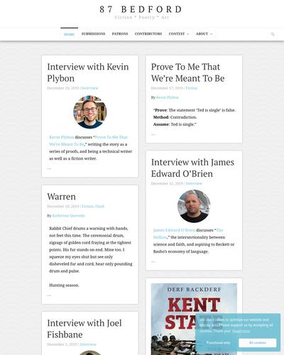 Recent cover image or website screenshot for 87 Bedford