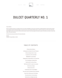 Recent cover image or website screenshot for Dulcet Quarterly Magazine