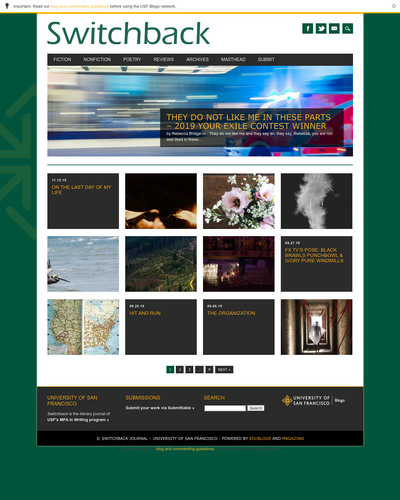 Recent cover image or website screenshot for Switchback Journal