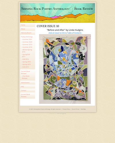 Recent cover image or website screenshot for Shining Rock Poetry Anthology
