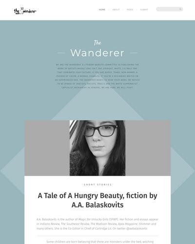 Recent cover image or website screenshot for The Wanderer