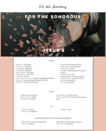 Recent cover image or website screenshot for For the Sonorous