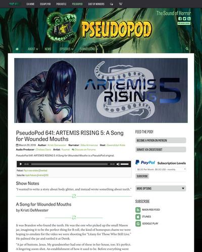 Recent cover image or website screenshot for Artemis Rising Series