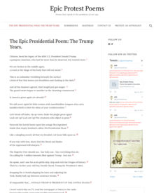 Recent cover image or website screenshot for Epic Presidential Poem: The Trump Years