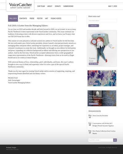 Recent cover image or website screenshot for VoiceCatcher
