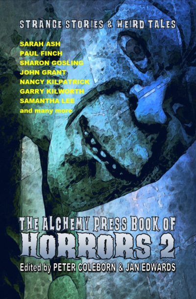 Recent cover image or website screenshot for Alchemy Press Book of Horrors Anthology Series