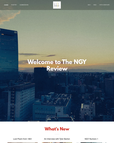Recent cover image or website screenshot for NGY Review