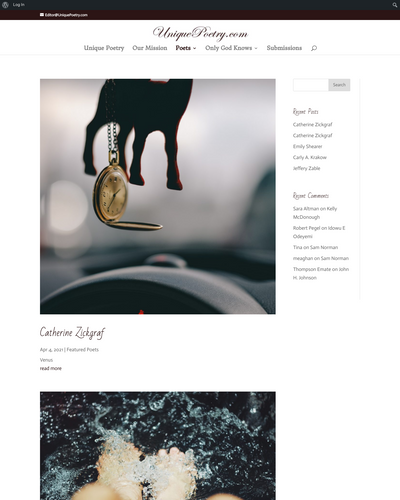 Recent cover image or website screenshot for Unique Poetry