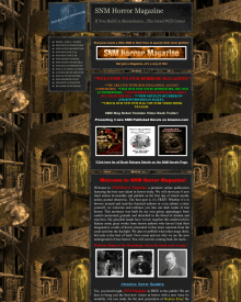 Recent cover image or website screenshot for SNM Horror Magazine