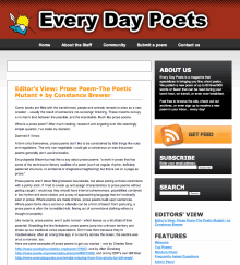 Recent cover image or website screenshot for Every Day Poets