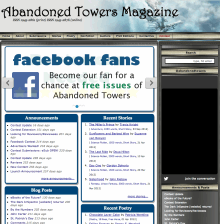 Recent cover image or website screenshot for Abandoned Towers
