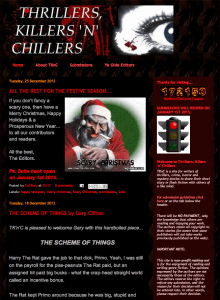 Recent cover image or website screenshot for Thrillers, Killers 'n' Chillers