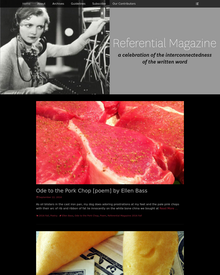 Recent cover image or website screenshot for Referential Magazine