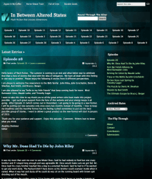 Recent cover image or website screenshot for In Between Altered States