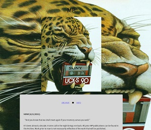 Recent cover image or website screenshot for MP Literary