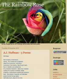 Recent cover image or website screenshot for The Rainbow Rose