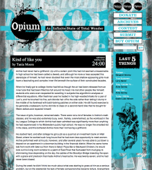 Recent cover image or website screenshot for Opium Magazine
