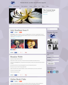 Recent cover image or website screenshot for Petrichor Review