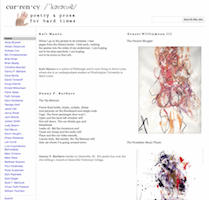 Recent cover image or website screenshot for cur.ren.cy: poetry & prose for hard times