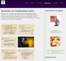 Recent cover image or website screenshot for Miscellanea: a transdimensional library