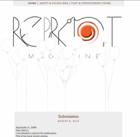 Recent cover image or website screenshot for Reprint Poetry