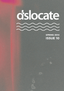 Recent cover image or website screenshot for dislocate: a minnesota journal of writing and art