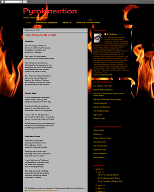 Recent cover image or website screenshot for Pyrokinection