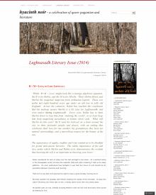 Recent cover image or website screenshot for Hyacinth Noir