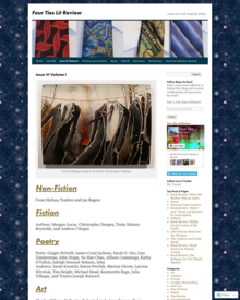 Recent cover image or website screenshot for Four Ties Lit Review