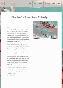 Recent cover image or website screenshot for New Purlieu Review